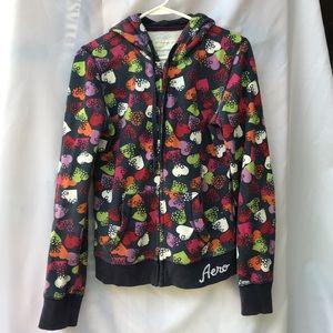 Aeropostale zip up fleece jacket size medium